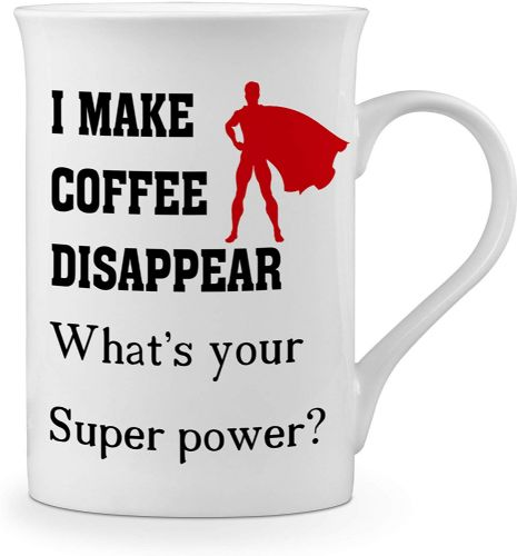I Make Coffee Disappear What's Your Super Power? Funny Novelty Gift Fine Bone China Mug